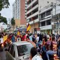 Hinchas del Deportes Tolima celebran la tercera estrella con grandes caravanas