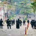 Enfrentamientos en inmediaciones de la Universidad del Tolima.