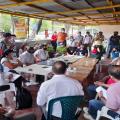 Reunión para las rutas hacia el Cañón del Combeima zona rural de Ibagué