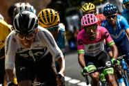Egan Bernal y Daniel Martínez, ciclistas colombianos
