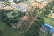 Los escenarios fueron demolidos para las nuevas obras de los Juegos Nacionales 2015.
