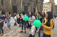 Protesta de mujeres en Bogotá