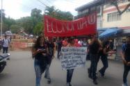 Marcha estudiantes Universidad del Tolima. Ilustración.