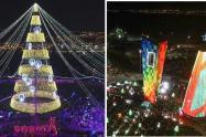 Árboles de Navidad en Bogotá y Barranquilla, en 2018