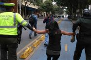 PROTESTA MARIHUANA JIBAROS  POLICIA ESMAD