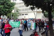 Marcha docentes en Medellín