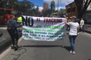 Marcha contra el fracking en Bogotá