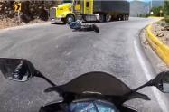 Accidente en la vía Curos, San Gil