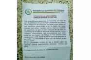 Este mismo documento se ha visto en otros puntos de Colombia