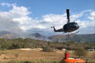 Momento exacto donde se adelantan labores en Tolima.