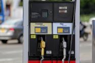 Una estación de gasolina ubicada en Bogotá