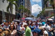 Marcha de maestros en Ibagué.