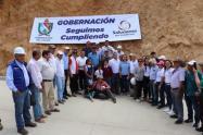 El gobernador visitó el corregimiento de Herrera en Rioblanco, para verificar obras viales