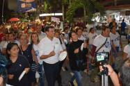 Con el grito de 'Ni una más', centenares de mujeres se unieron a la marcha en contra del maltrato a la mujer
