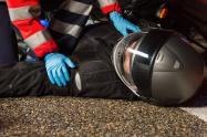Accidente motociclista referencial