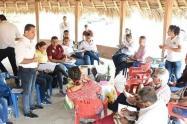 Se realizó mesa informativa con los consejeros de la Minga Indígena para presentar balance de los acuerdos firmados