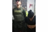 Fue sorprendida por los agentes policiales.