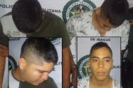 Detenidos delincuentes