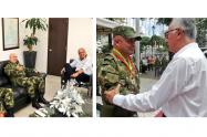 Coronel William Prieto con el Alcalde de Ibagué y el Gobernador del Tolima