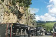 Accidente vía Cajamarca