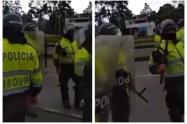 Policía en manifestaciones