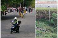 Manifestantes se tomaron el sector del Puente del Refugio