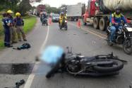 Accidente en moto cobró la vida de un bebé