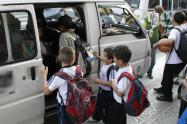 Se van transferir 600 millones de pesos para garantizar el transporte escolar