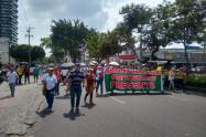 Marchas de Fecode en Ibagué.