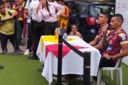 Jeison Gordillo y Daniel Cataño del Deportes Tolima