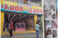 Almacén del centro de Ibagué pública fotos de los ladrones sorprendidos en flagrancia