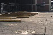 En estos momentos los parqueaderos de la terminal de transportes de Ibagué se encuentran desocupados