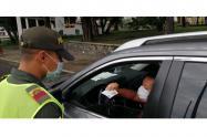 Policía hace controles en la Cuarentena