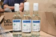 Los alcoholes recibidos serán distribuidos entre los hospitales del departamento