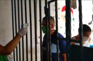 Pruebas de Covid-19 en la cárcel de Villavicencio.