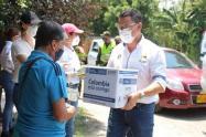 Alcaldía de El Espinal adelantó la jornada de la primera entrega de ayudas humanitarias para mayores de 70 años