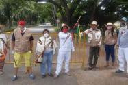 La Guardia Indígena de la comunidad Achiotex del Pueblo Pijao asumió la vigilancia de las fronteras del municipio de El Espinal
