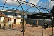 El Batallón de Operaciones Terrestres N°18 habilitó hangares para el aislamientode posibles casos de Coronavirus