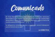 Binacional ratifico a Flabio Torres