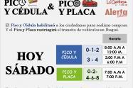Pico y Cédula Sábado en Ibagué