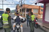 Controles policiales en Ibagué