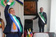 Alcalde de San Antonio Jorge Iván Vásquez Martínez y Alcalde de Palocabildo y Nelson Gómez Velásquez