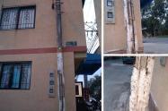 Vecinos del barrio Montecarlo denuncian daño en un poste de energía