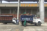 Estadio de Ibagué en limpieza