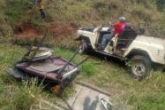 vehiculo accidentado en el sur del Tolima