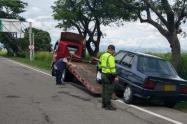 En los vehículos se encontraron personas viajando como pasajeros hacia los Departamentos de Risaralda y  Meta