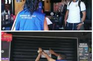Cierre de establecimientos en Ibagué