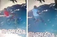 Fleteos huyeron en bicicletas