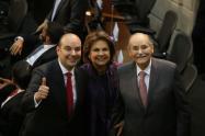 Horacio José Serpa (Izquierda), Rosita Moncada (Centro) y Horacio Serpa