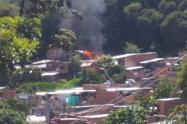 La emergencia se presentó sobre las 10 de la mañana en el barrio Beléncito